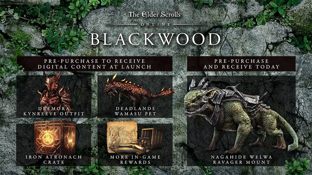 ESO Blackwood Chapter Pre-Order Bonuses